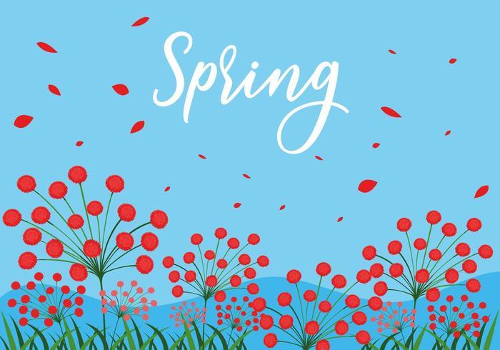schöne Frühlingsblumenszene vektor