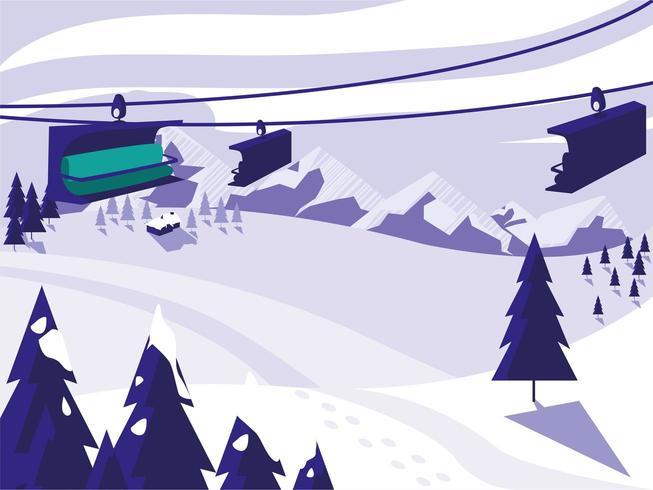 ski camp snowscape vektor