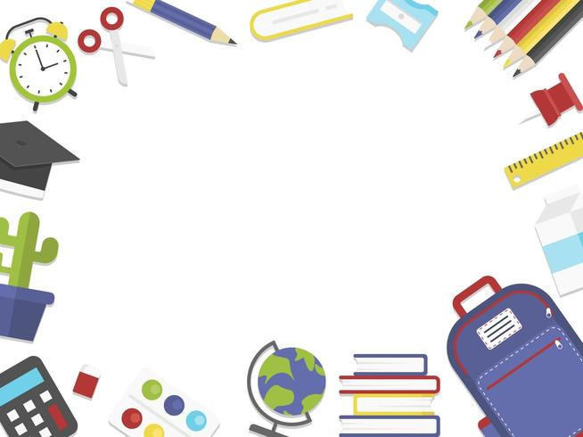 Tillbaka till School Stationery vektor