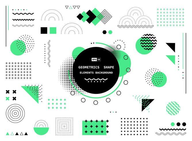 Abstrakter grüner und schwarzer geometrischer Formen Hintergrund vektor