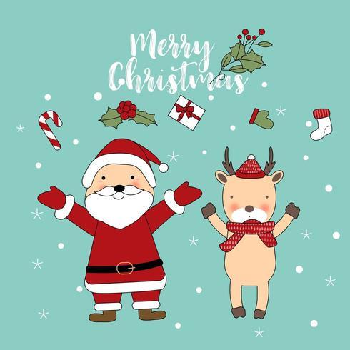 Frohe Weihnacht-nette Gruß-Karte vektor