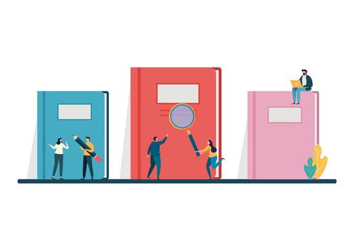 Böcker fantasi koncept. Världsbokdagen, 23 april. vektor