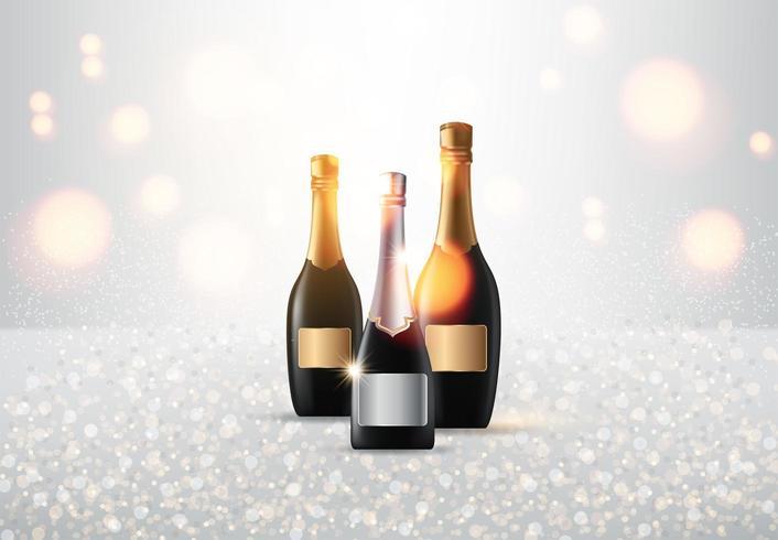 Champagne på ljus vektor