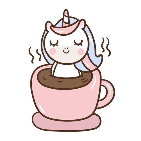 Kleines Pony in der Kaffeetasse vektor