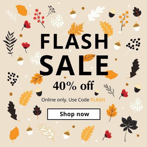 Herbst Element Flash Sale Poster vektor