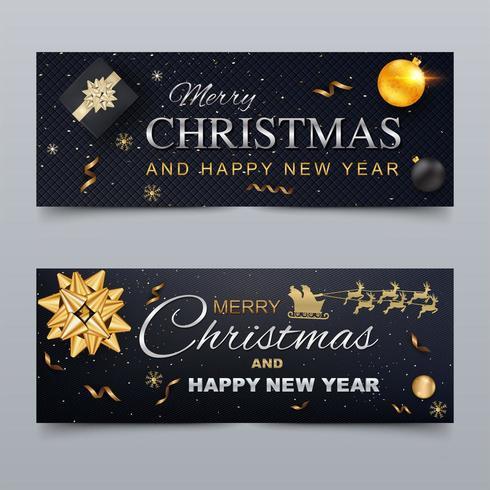 Frohe Weihnachten und Happy New Year Cover für soziale Netzwerke vektor