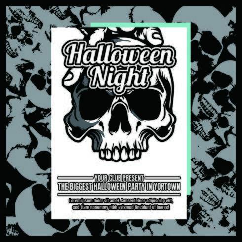 grunge halloween party inbjudningsreklamblad vektor