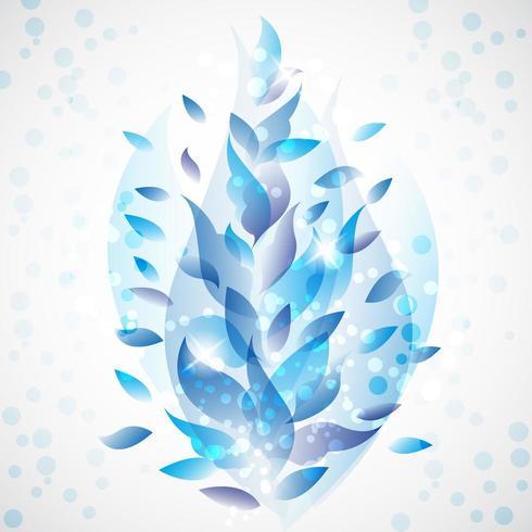 Blau lässt abstrakten Hintergrund vektor