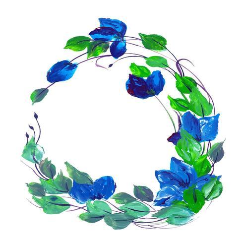 Vacker akvarell lila och blå blommor vektor
