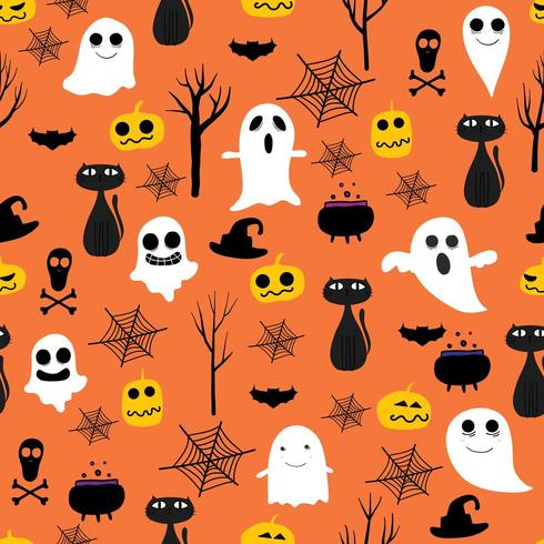 Halloween sömlös bakgrund vektor