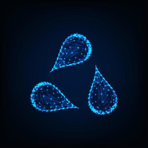 Dreieck oder bereiten das Zeichen auf, das von drei Wassertropfen gebildet wird vektor