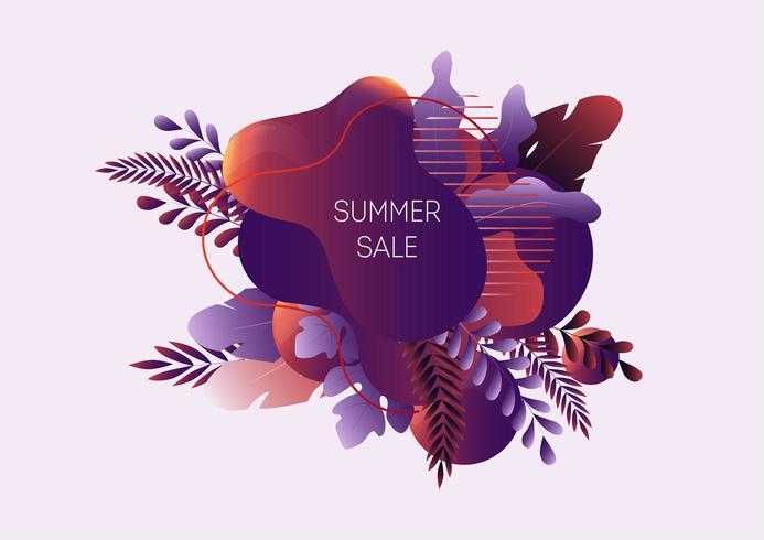 Sommerschlussverkauf-Web-Banner vektor