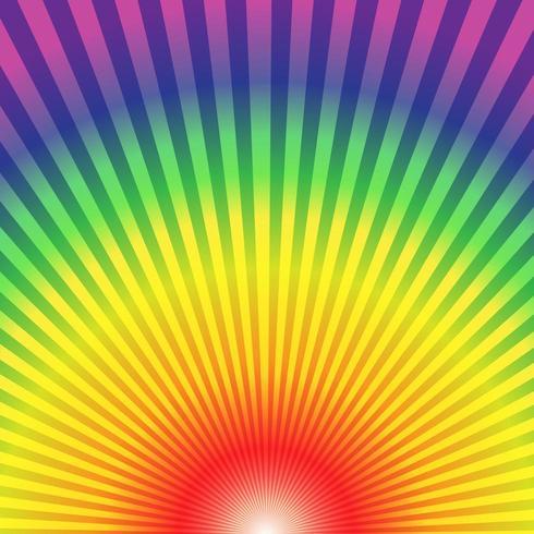 Regenbogenradialstrahlen leiten herauf abstrakten Hintergrund von unten nach oben vektor