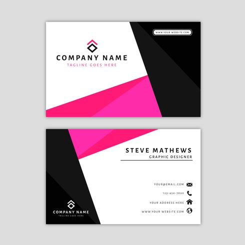 Modern visitkortsmall med abstrakt design vektor