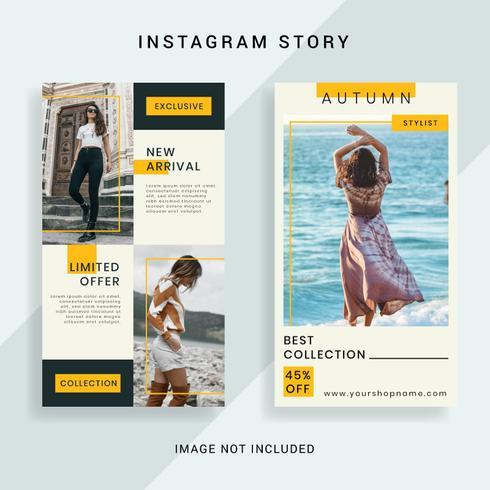 Social Media Instagram Story Mall vektor