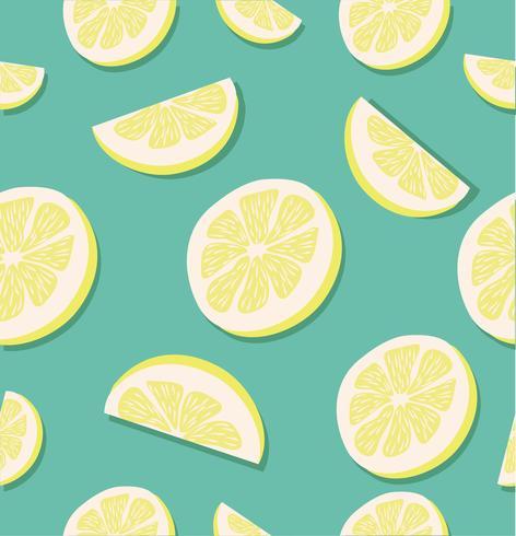 Zitronenscheibe nahtlose Muster vektor
