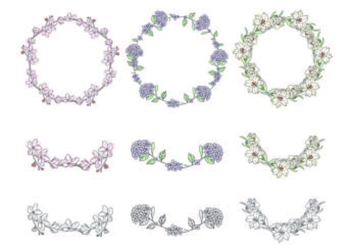 Kranz Blumen Sammlung vektor