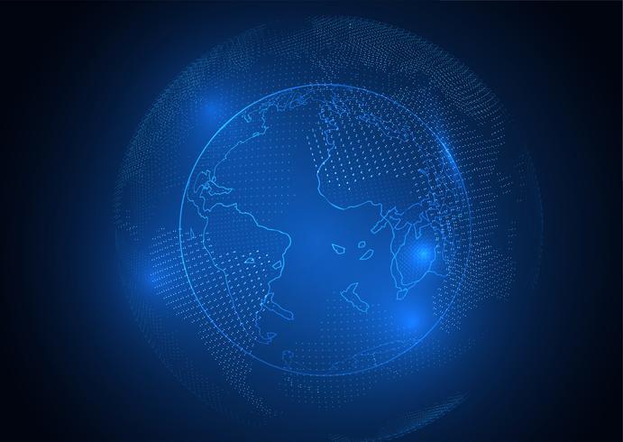 Digital Globe Hintergrund vektor