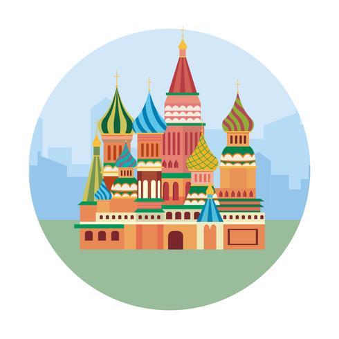 Gebäude des roten Quadrats in Moskau vektor