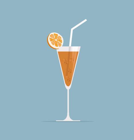 Glas mit Orangensaft vektor