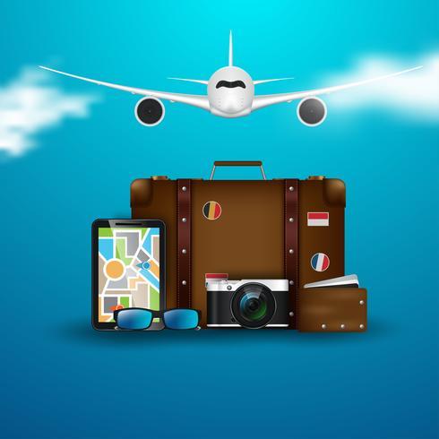 Reisen im Flugzeug vektor