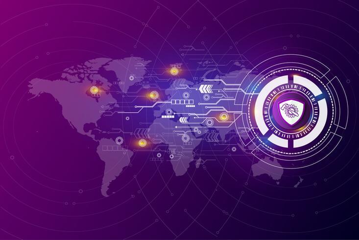 Utvecklingen av global kommunikationsteknik vektor