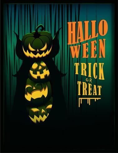 halloween affisch banner vektor