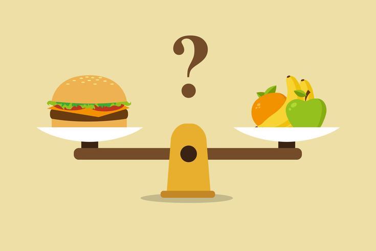 Hälsosamt ätande balanserat dietkoncept vektor