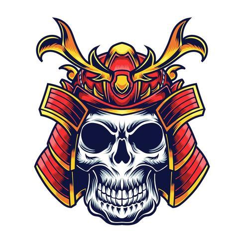 Samurai Kopf Vektor-Illustration Tattoo-Design vektor
