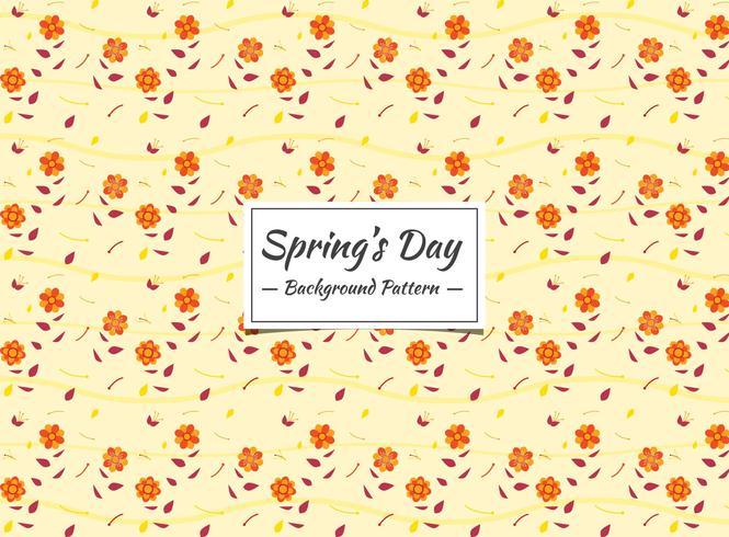 Nahtloses Muster des Frühlinges mit kleinen orange Blumen vektor