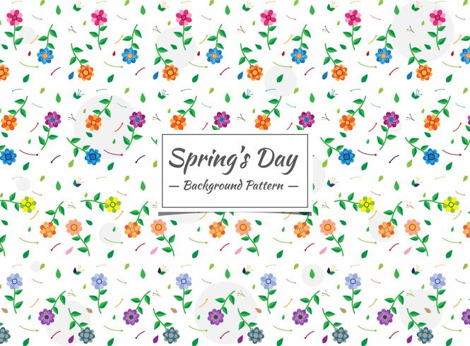 Nahtloses buntes Blumenmuster des Frühlinges vektor