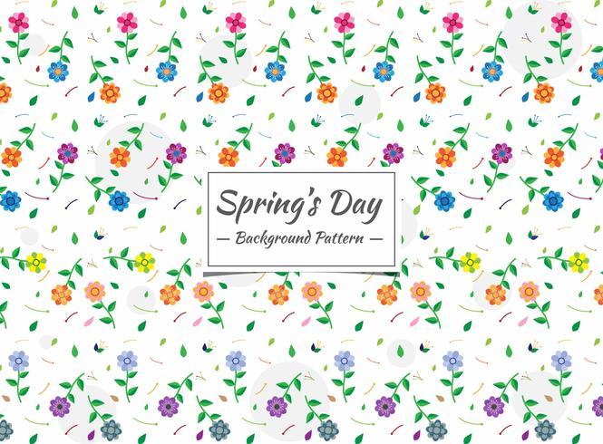 Vårens sömlösa färgglada blommönster vektor