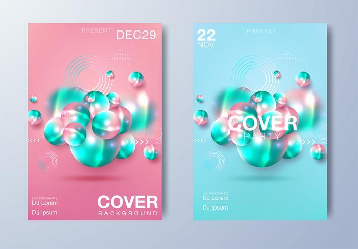 Poster für elektronische Musik vektor
