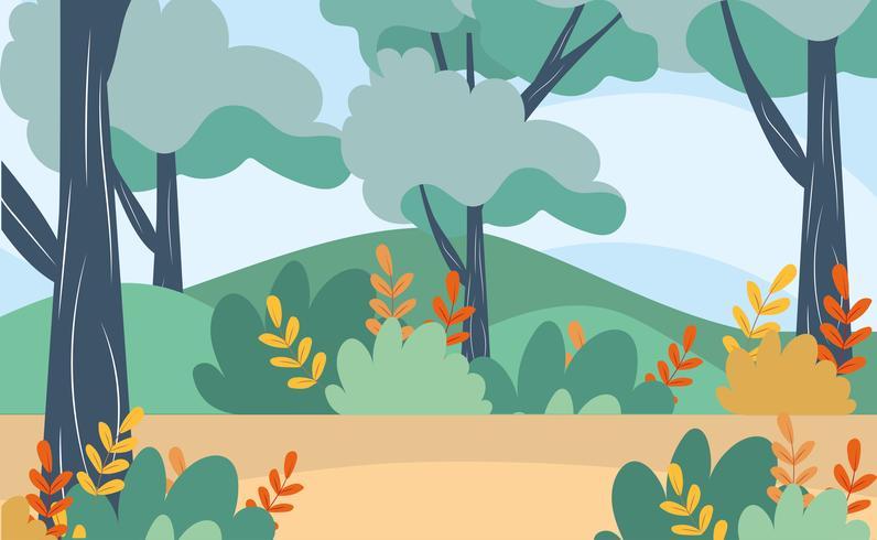 Naturlandschaft mit Zweigen und Blättern vektor