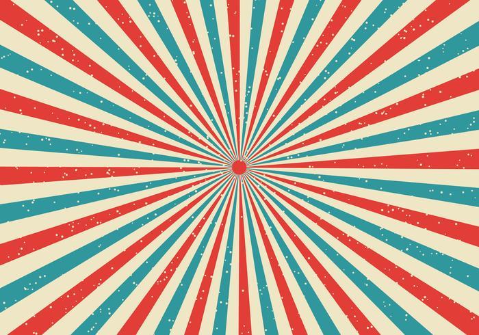 Retro sunburst och rays komisk tecknad popart-stilbakgrund vektor