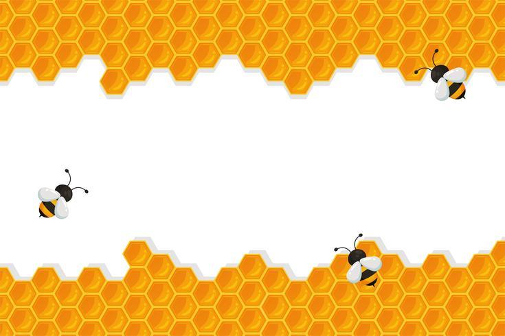 Geometrischer Bienenwabenhintergrund vektor