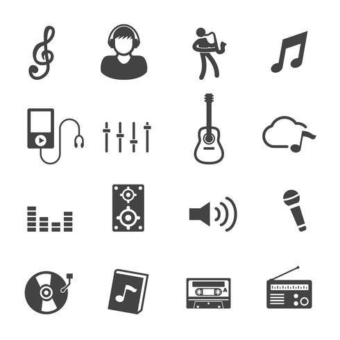 musik och ljudikoner vektor