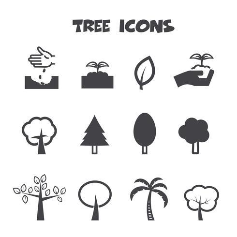 Baum Symbole Symbol vektor