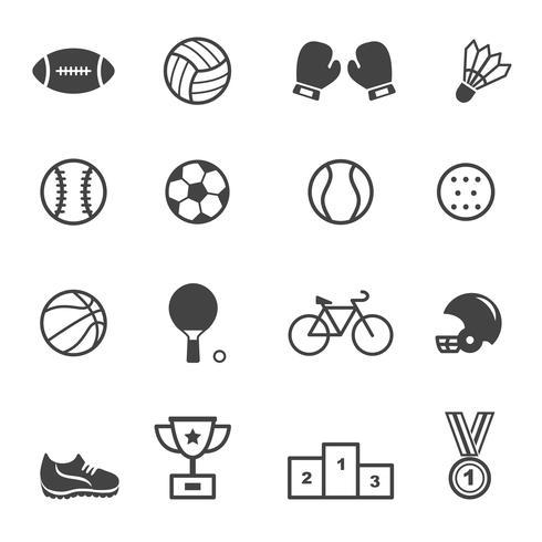 Symbole für Sport und Ausrüstung vektor
