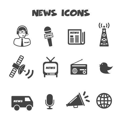 nyheter ikoner symbol vektor