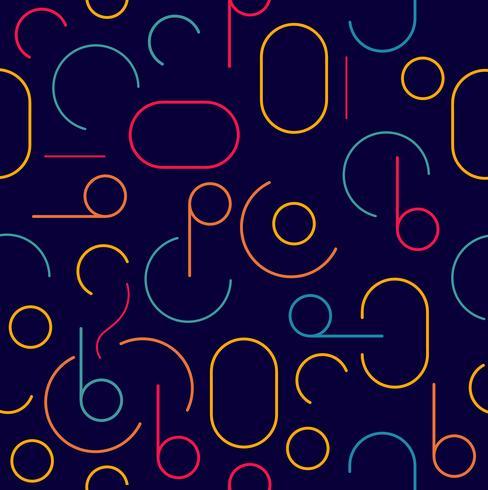 retro färgglada sömlösa cirkelmönster vektor