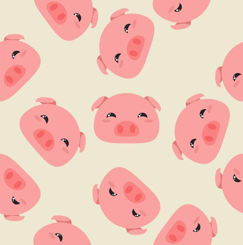 Schweinekopf Muster vektor