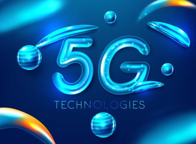 Globalt nätverk med hög hastighet innovation 5G vektor