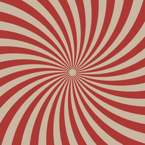 Röd radiella linjer för cirkus på ljusbrun bakgrund vektor