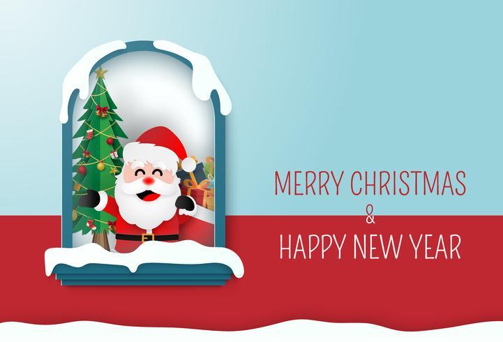 Frohe Weihnachten und Happy New Year Card vektor