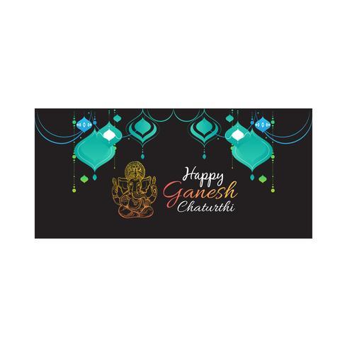 Glücklicher Ganesh Chaturthi Entwurf vektor