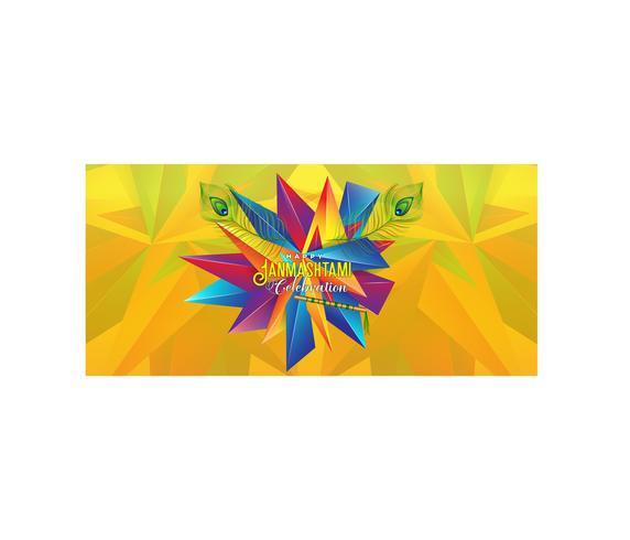 Lycklig Janmashtami abstrakt färgglad bakgrund vektor