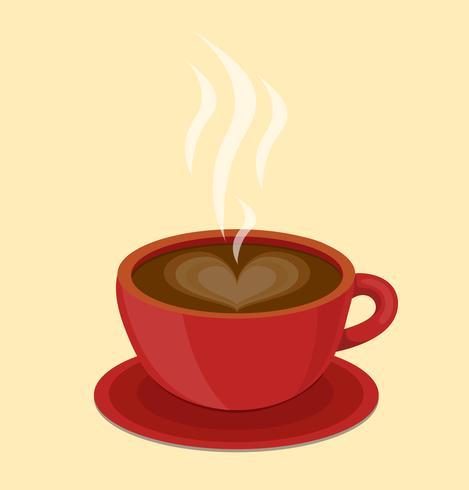 espresso hjärta kopp vektor
