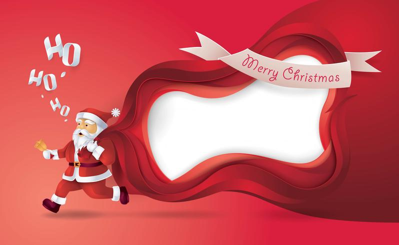 pappersbruk jul santa ram vektor