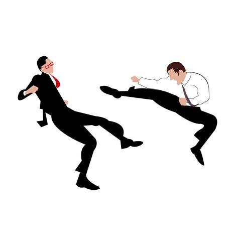 Geschäftsmann Kung Fu vektor